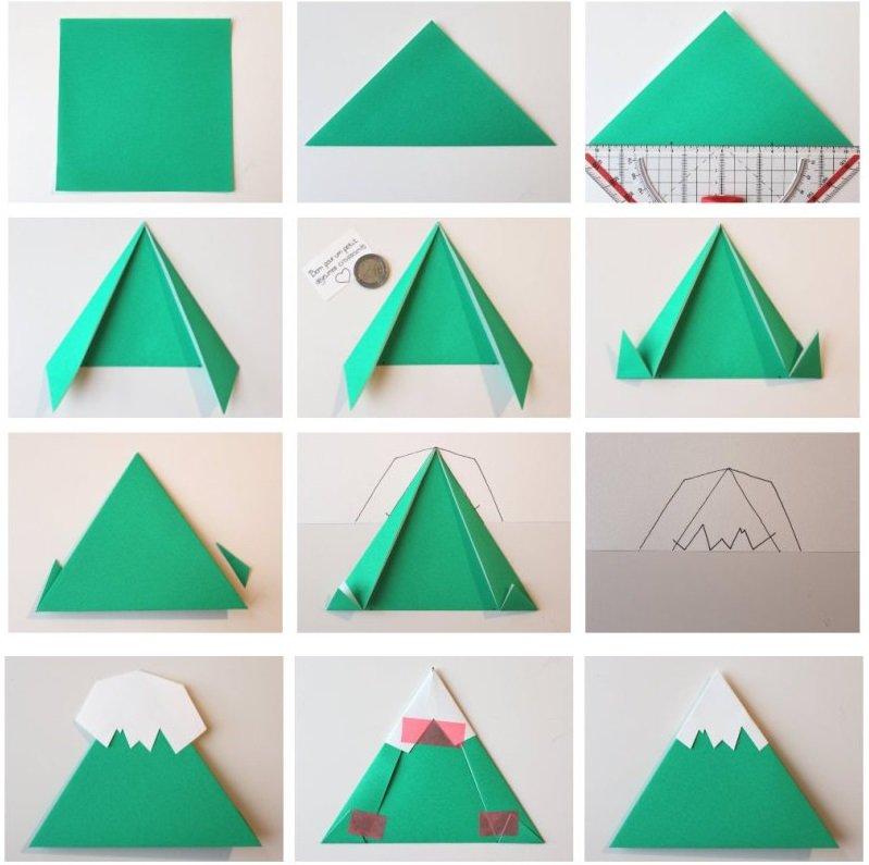Как сделать горы из бумаги своими руками 45