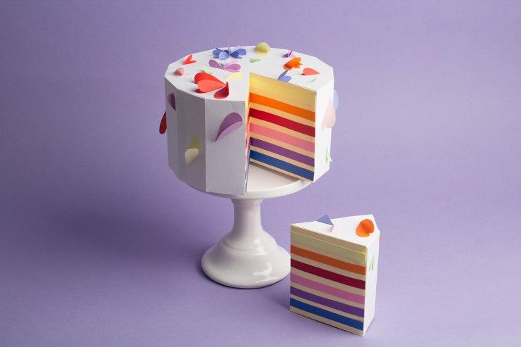 паперкрафт торт развертка