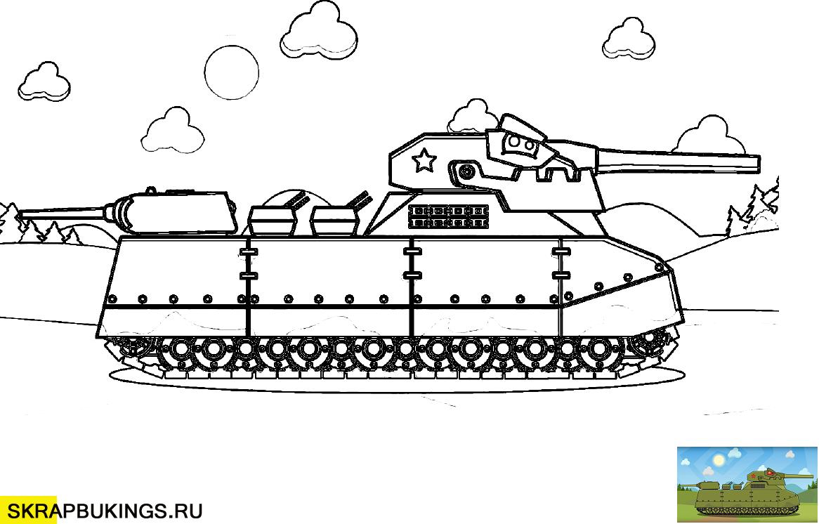 Раскраски (Мультики про танки), распечатать раскраски ...